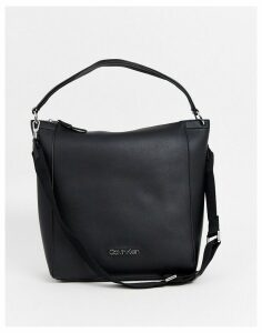Calvin Klein Strap slouch shoulder bag in black
