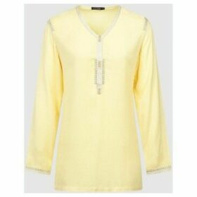 Diamantine Pure Création Maroca  Dream  women's Blouse in Yellow