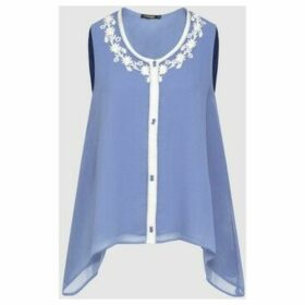 Diamantine Pure Création Maroca  Selena  women's Blouse in Blue