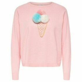 Only  15150296 VALLY KNITWEAR Women PINK  women's Sweater in Pink