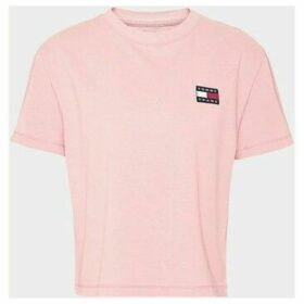 Tommy Jeans  DW0DW06813 BADGE TEE  women's T shirt in Pink