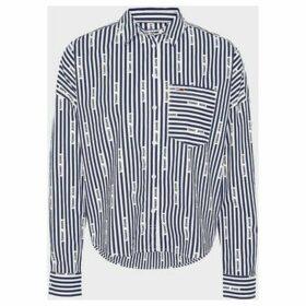 Tommy Jeans  DW0DW07618 LOGO STRIPE  women's Shirt in Black