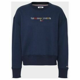 Tommy Jeans  DW0DW07545 MODERN LOGO  women's Sweatshirt in Black
