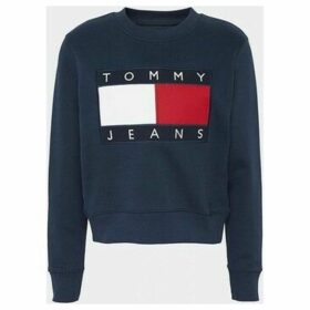Tommy Jeans  DW0DW07414 FLAG CREW  women's Sweatshirt in Black