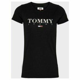 Tommy Jeans  DW0DW07524 ESSENTIAL  women's T shirt in Black