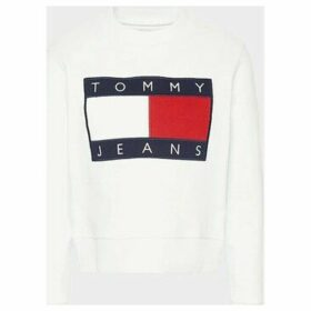Tommy Jeans  DW0DW07414 TOMMY FLAG  women's Sweatshirt in White