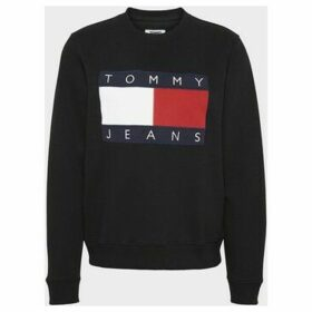 Tommy Jeans  DW0DW07414 TOMMY FLAG  women's Sweatshirt in Black