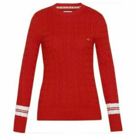 Tommy Jeans  DW0DW07186 TIPPINH CABLE  women's Sweater in Red