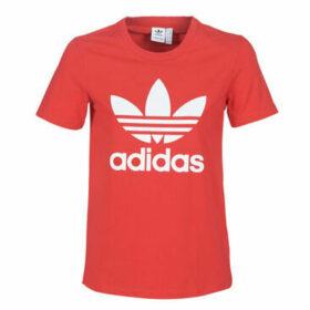 adidas  TREFOIL TEE  women's T shirt in Red