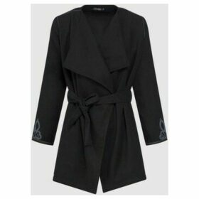 Diamantine Pure Création Maroca  Gloria  women's Trench Coat in Black