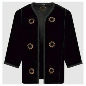 Diamantine Pure Création Maroca  Roumaisa Velour  women's Jacket in Black