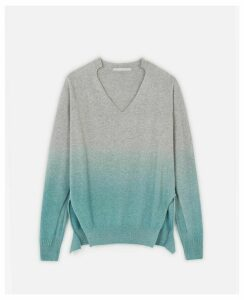 Stella McCartney GREY Regenerated Cashmere Jumper, Women's, Size 4
