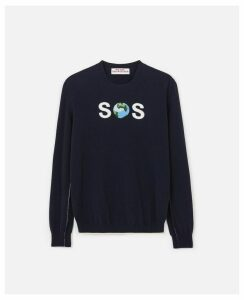 Stella McCartney Blue SOS Jumper WATW capsule, Women's, Size 14