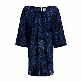 JUNAROSE Curve Kidaroy Tunic Top, Black/Blue