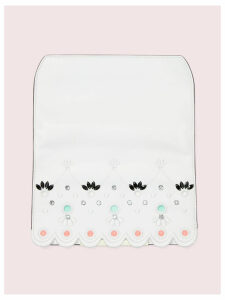 Make It Mine Scallop Embroidered Flap - Optic White - One Size