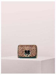 Nicola Metallic Leopard Twistlock Small Convertible Chain Shoulder Bag - Rose Gold Multi - One Size