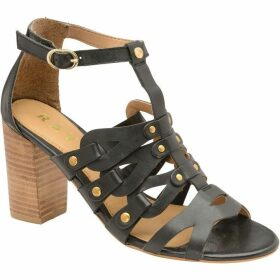 Ravel Jackson Block Heel Leather Sandals