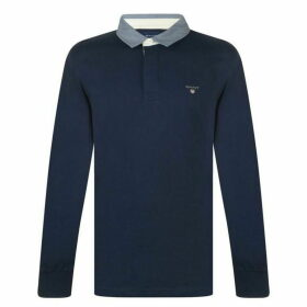 Gant Plain Rugby Polo Mens