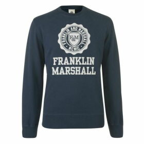 Franklin and Marshall Stamp Logo Sweatshirt
