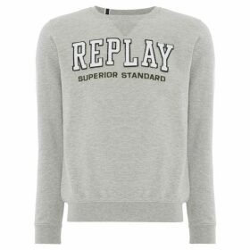 Replay Round-Neck Cotton Sweatshirt