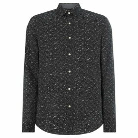 Michael Kors Constellation Print Long Sleeve Slim Fit Shirt