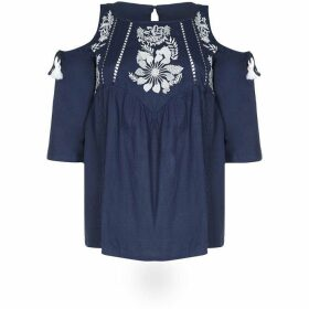 Yumi Floral Cold Shoulder Top