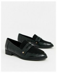 London Rebel loafer in black