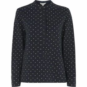 Whistles Spot Slub Cotton Jersey Shirt
