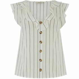Oasis Stripe Button Top