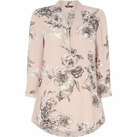 Roman Originals Floral Zip Detail Top