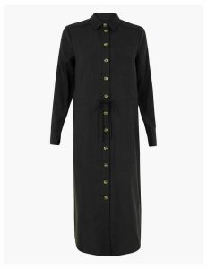 M&S Collection Pocket Utility Shirt Midi Dress