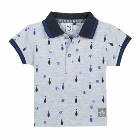 3 Pommes Baby Boy Light Grey Polo Shirt