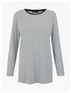 M&S Collection Striped Longline Top