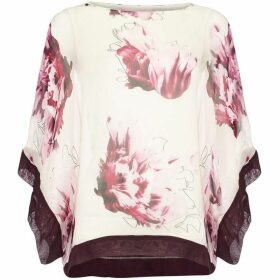 Phase Eight Peony Floral Silk Blouse