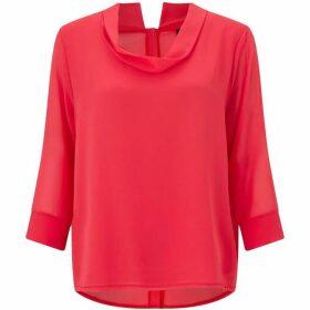 James Lakeland Cowl Neck Button Shirt