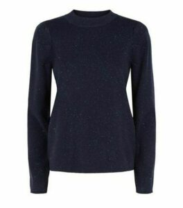 Sunshine Soul Navy Glitter Jumper New Look