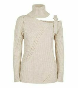Cameo Rose Cream Cut Out Jumper New Look