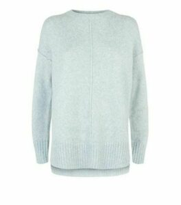 Mint Green Exposed Seam Crew Neck Jumper New Look