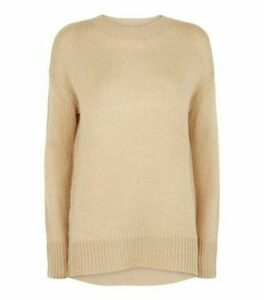 Camel Crew Neck Jumper New Look