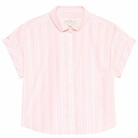 Jack Wills Stowell Stripe Dolman Sleeve Shirt - Pale Pink