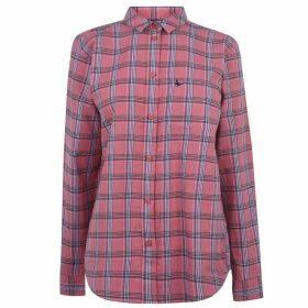 Jack Wills Guilden Checked Boyfriend Shirt - Pink Check