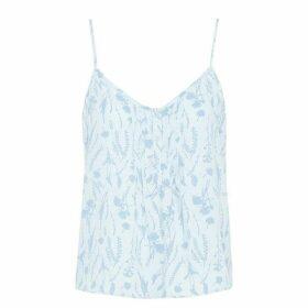 Jack Wills Stanlake Floral Cami - Ice Blue
