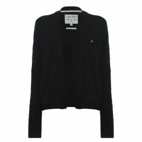 Jack Wills Wingate Cable Cardigan - Black