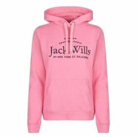 Jack Wills Hunston Embroidered Hoodie Ladies - Pink