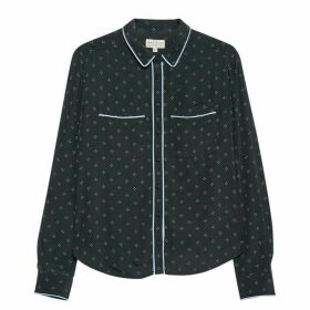 Jack Wills Raffier Pyjama Print Shirt - Black