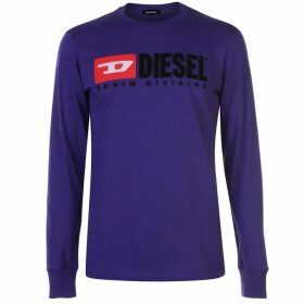 Diesel Jeans Division Long Sleeve T Shirt - Purple