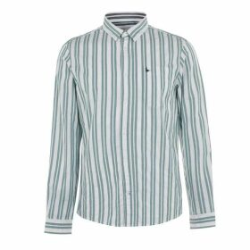 Jack Wills Simmons Stripe Shirt - Dark Green