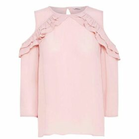 Jack Wills Trevose Ruffle Top - Pink