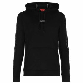 HUGO Dercolano Over The Head Hoodie - Black 001