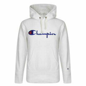 CHAMPION Logo Hooded Sweatshirt - White